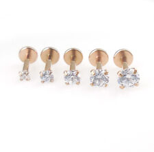 Push Pin Labret Rose Gold Tone Jewelry Nose Earring Tragus Helix Rings 18G 16G