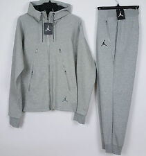 NIKE AIR JORDAN TECH FLEECE SUIT HOODIE + PANTS SET GREY NWT RARE (SIZE SMALL)