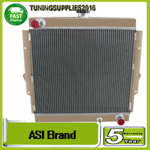 Aluminum 4ROW Radiator FOR 1985-1993 MT Landcruiser 70 Series FJ73&FJ75 Petrol
