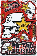Nue Rockstar Energy Metal Mulisha Grafik Aufkleber stickers set. (st193)