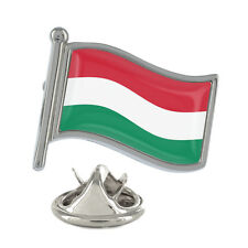 Hungary Wavy Flag Pin Badge Hungarian Country Budapest Andrássy NEW & Exclusive