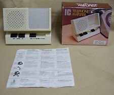 NEW OLD STOCK 70s or 80s IC External Telephone Amplifier Battery Powered