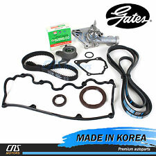 Gates Timing Belt V-Belt & Water Pump Valve Cover Gasket for Hyundai Accent 1.5L