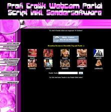 Profi Erotik Webcam Portal Script inkl. Sendersoftware - PHP-Script