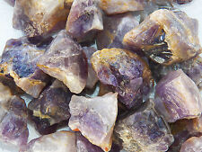 "1/2 LB AMETHYST  1""+ Bulk Rough Tumbling Rock Stones 1100+ Ct India"