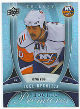 09-10 Upper Deck Trilogy #136 Joel Rechlicz RC #/799