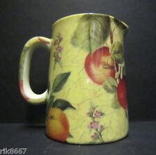 Heron Cross Pottery Botanical Fruit Chintz English 1/4 Pint Cream Jug