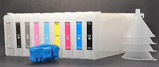 9pc Refillable Ink Cartridge for Epson 7800/9800,Pigment UltraChrome K3+Resetter