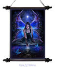 """Anne Stokes Wall Art Scroll: """"Immortal Flight"""" Gothic Fairy with Skull Vision"""