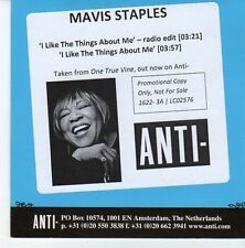 (EB220) Mavis Staples, I Like The Things About Me - 2013 DJ CD