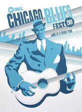 Original Chicago Blues Festival 2011  vintage poster, signed & numbered ed. 100