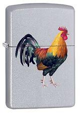 Zippo Lighter: Rooster - Satin Chrome 75537