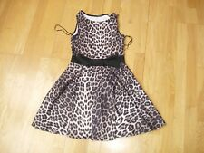 EVITA animal print skater dress with bow size 10 super condition