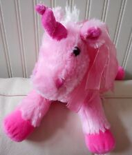 "DAN DEE UNICORN Plush Stuffed Pink White Soft Floppy Collectors Choice 13"" Long"