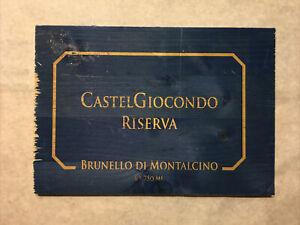 1 Blue Rare Wine Wood Panel Castel Giocondo Vintage CRATE BOX SIDE 7/21 472
