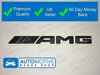 BLACK MATT AMG ABS BOOT BADGE EMBLEM FOR MERCEDES BENZ C CL CLK SLK S SL E CLASS