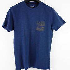 Woolrich Herren T Shirt Oberteil Gr US XS EU S Blau Camouflage Tasche NP 65 Neu