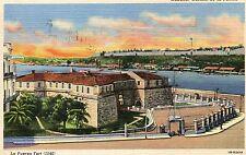 Postcard HABANA CUBA Havana CASTILLO DE LA FUERZA La Fuerza Fort unmailed linen