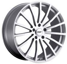 18x8 TSW Mallory 5x112 Rims +45 Silver Wheels (Set of 4)