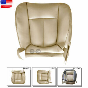 Driver Side Bottom PERFORATED Leather Seat Cover Tan For Ford F150 Lariat 11-14