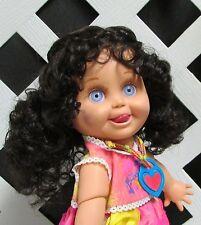 """Doll Wig Monique """"Laura"""" size 10/11 in Dark Brown - fits Tonner Katie"""