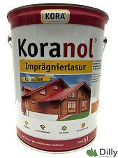 Koranol Imprägnierlasur Holzschutz Lasur 5 ltr. Pinie Kiefer Eiche Teak Kastanie