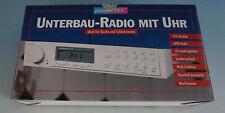 W020-312: Powertec Küchenradio Radio Unterbauradio mit Uhr weiss
