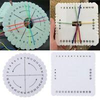 2Pcs DIY Round Square Kumihimo Beading Cord Disc/Disk Braiding Braided Plate