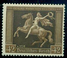 "GERMANY #B119v 42 + 108pf Horsewoman, ""X"" gum lines, NH, VF,"