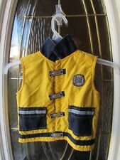 2T boys Yellow Fireman Search and Rescue Vest, hero, fire dept, play clothes