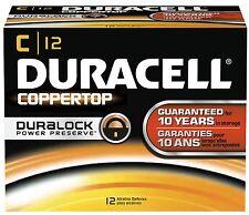 NEW DURACELL COPPERTOP C ALKALINE BATTERIES TWENTY-FOUR (24) PER BOX