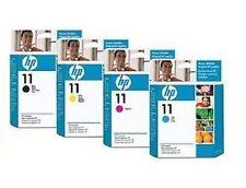 4 x cabezales de impresión HP DesignJet 100 500 800 PS/nº 11 c4810a c4811a c4812a c4813a