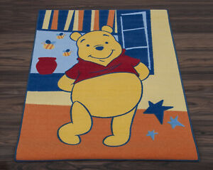 Winnie the Pooh Official Disney Children's Rug/Play Mat in Orange 95cm x 133cm