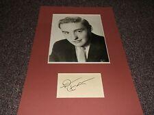 Dennis Hopper (1936-2010) signed autograph card matted w/photo w/COA
