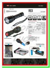 torcia led ricaricabile potente cree lampada REX caccia sport tattica militare