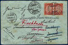 """1933 - Lettera per la Svizzera - Affrancatura multipla serie """"Anno Santo"""""""