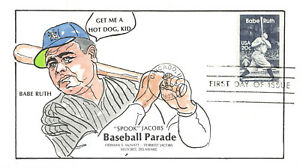 "2046 20c Babe Ruth Ham McNatt H/P of ""Spook"" Jacobs Baseball Parade [83998]"