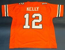 JIM KELLY CUSTOM UNIVERSITY OF MIAMI HURRICANES JERSEY THE U