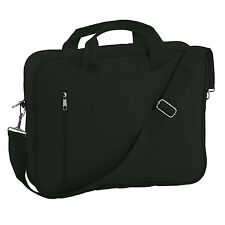 ZIPPED DOCUMENT LAPTOP MESSENGER SHOULDER BAG,BRIEFCASE,WORK,TRAVEL,OFFICE,BLACK