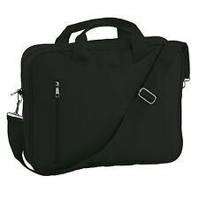 "BN Laptop Macbook Black Carry Bag Sleeve Two Handles Shoulder Strap and Zip 15"""
