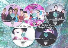 Button & FREE CULTURE CLUB & BOY GEORGE 104 Music Video Collection 82-2016 5 DVD