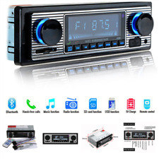 Classic Car Stereo Bluetooth MP3 Audio Retro Radio Player FM USB AUX & Remote