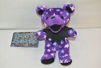 Grateful Dead Bean Bear Collectible Liquid Blue Dark Star 1998 Plush DOB 2/14/69