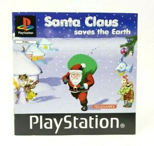 Santa Claus Saves The Earth Sony PlayStation 1 PS1 PSX Instruction Manual Only