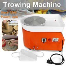25CM 350W Électrique Tours Roue de Poterie Machine Céramique Argile Potier 220V