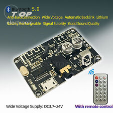 DC 3.7-24V Bluetooth 5.0 Audio Receiver Decoders Stereo 3.5MM Amplifier Board