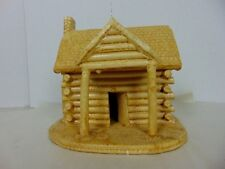 MITCHELL SHELTON SOUTHERN PRIMITIVE FOLK ART LOG CABIN SEAGROVE NORTH CAROLINA