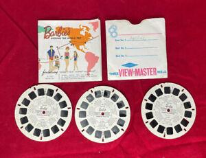 Vintage GAF View-Master Stereo Reel Set - Barbie Around the World Trip - B500