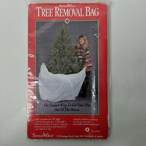 "JUMBO CHRISTMAS TREE REMOVAL BAG & TREE SKIRT 144"" X 90"" HEAVY DUTY"