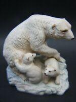 Antique Aynsley Polar Bear & Cubs Fine Porcelain Figurines England 30's Rare